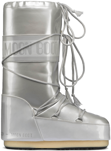 Moon Boot Vinil Met - Winterschuhe WHITE